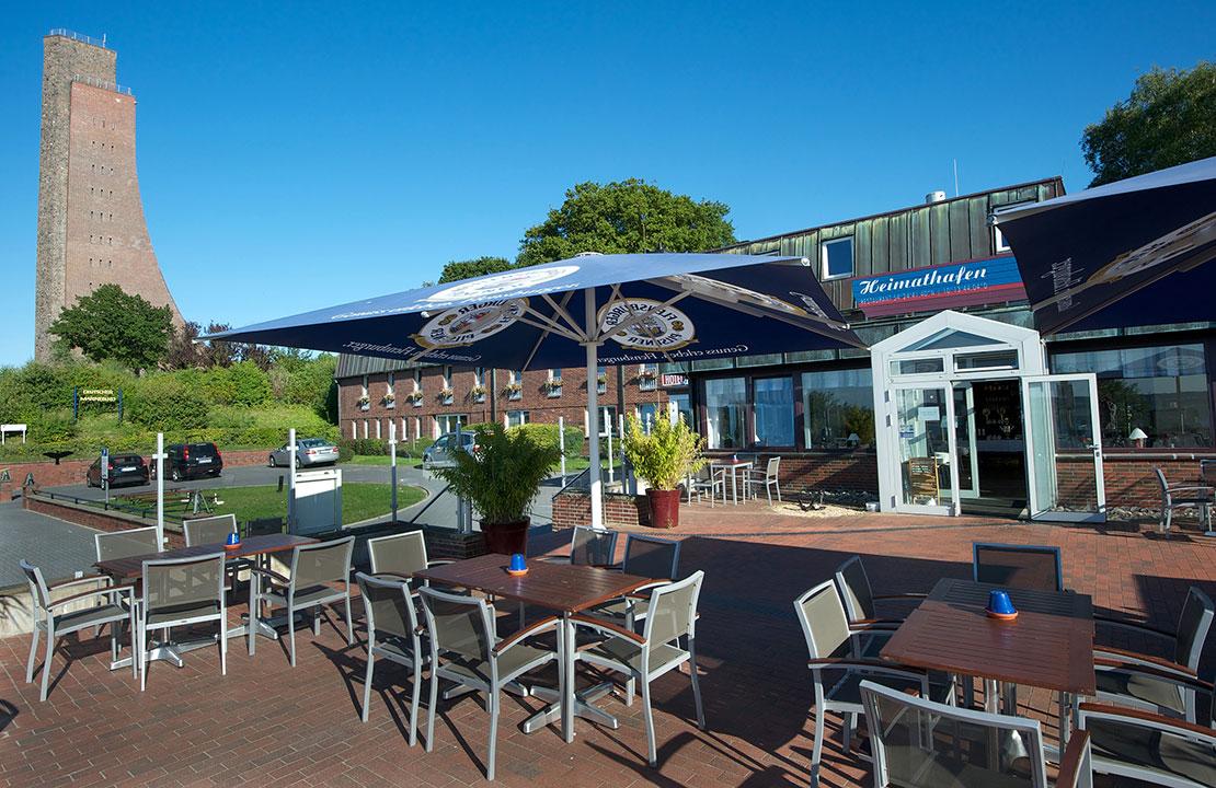 Restaurant Heimathafen in Laboe - Terasse