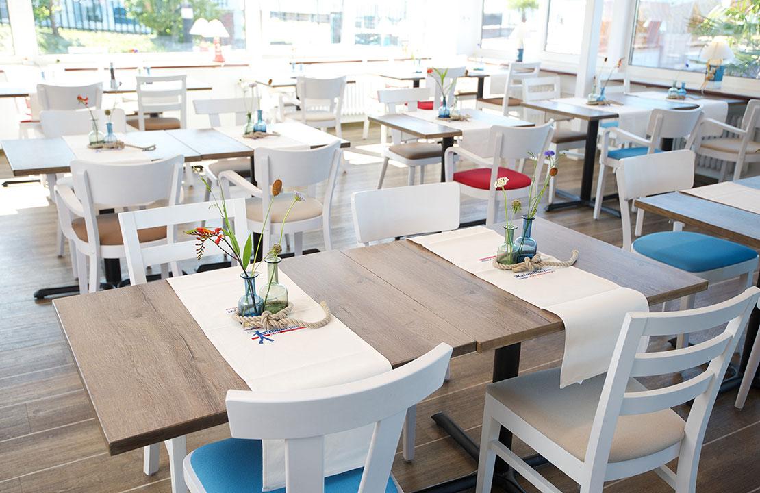 Restaurant Heimathafen in Laboe - Tische